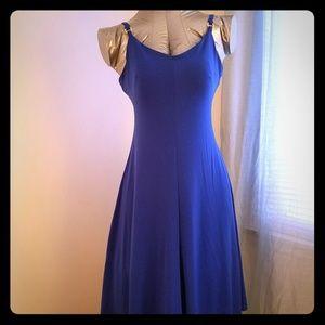 Blue Calvin Klein spaghetti-strap dress